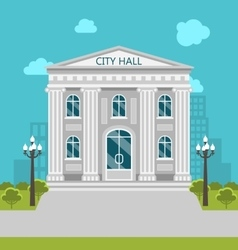 Municipal building city hall government the vector