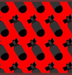 Nuclear bomb pattern seamless torpedo bombshell vector