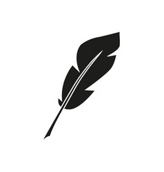pen feather icon vector image