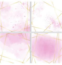 pink water splash color background with golden vector image