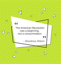 Pop-art banner woodrow wilson revolution quote vector