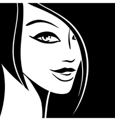 Pretty Woman Portrait vector image