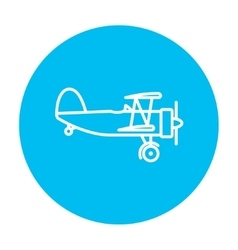 Propeller plane line icon vector image