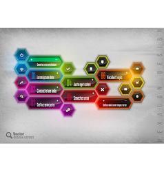 Rainbow Hexagon vector image