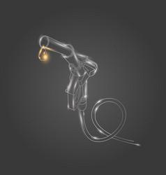 refueling gas gun linear on dark vector image