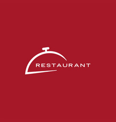 restaurant cloche serving dish food cover dome vector image