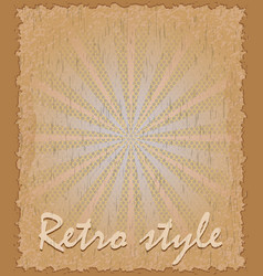 retro style poster vertical vector image