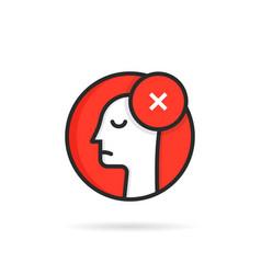 round icon like linear dismissal logo vector image
