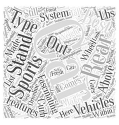 SC best sports car Word Cloud Concept vector
