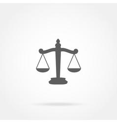 Scales justice icon vector