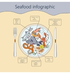 Seafood infographic vector