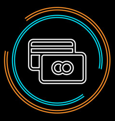 simple credit card thin line icon vector image