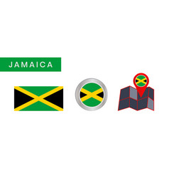 Simple flag jamaica is isolated vector