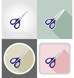 stationery flat icons 16 vector image