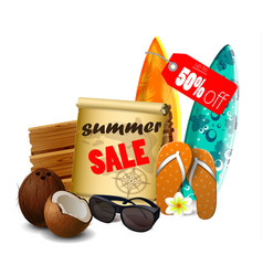 Summer sale banner online shopping vector