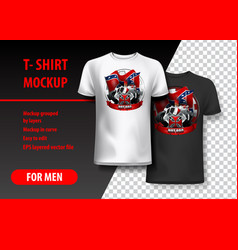 T-shirt template fully editable with vintage hot vector