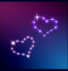 the radiant heart neon sign retro neon vector image