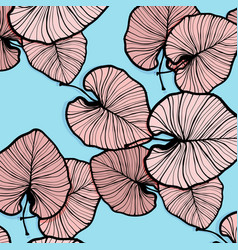 Tropical palm leaves trendy summer vector