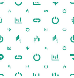 Turn icons pattern seamless white background vector