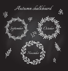 vintage autumn wreaths vector image