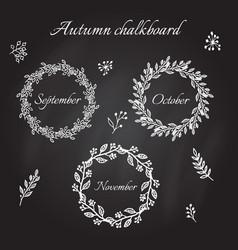 Vintage autumn wreaths vector