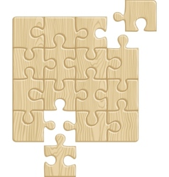 Wooden puzzle pattern vector