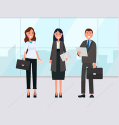 Workers business collaboration tourists vector