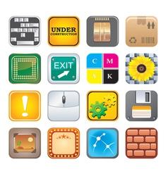 apps icon set five vector image vector image