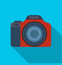 digital camera icon in flat style isolated on vector image