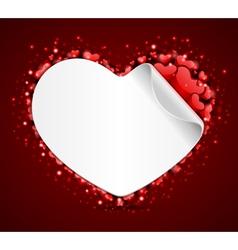 heart label vector image