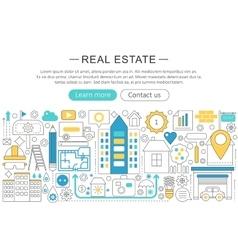 modern line flat design Real estate vector image vector image