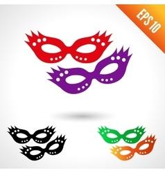 Party masquerade masks vector image vector image