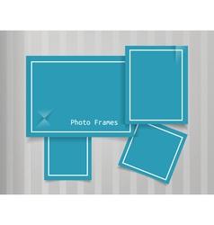 Photo Frames Design Background vector image vector image