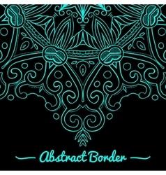 Round Mandala Dark Blue vector image