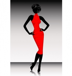 silhouette dress vector image vector image