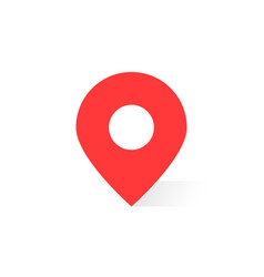 simple red map pin with shadow vector image vector image