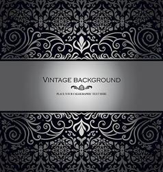 Vintage card royal silver vector image