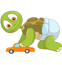 Funny Turtle Baby Boy vector image vector image