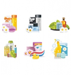 health and beauty suppl vector image vector image