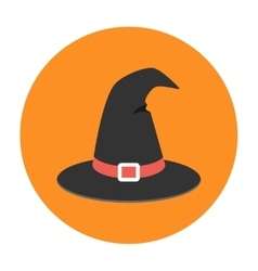 Witch hat flat icon vector image vector image