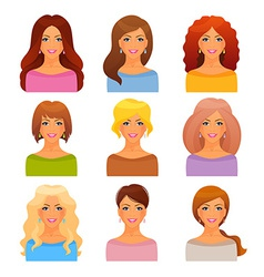 Beautiful and young girls vector image vector image