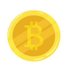 gold coin bitcoin crypto currency icon mining vector image