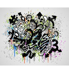 grunge graffiti design vector image vector image