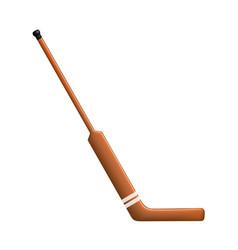 hockey stick for goalie vector image