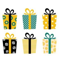 Retro gifts vector image vector image