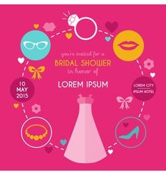 Wedding Bridal Shower Card vector image vector image