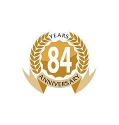 84 years ribbon anniversary vector image vector image