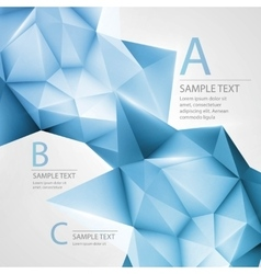 Abstract background with triangle vector image