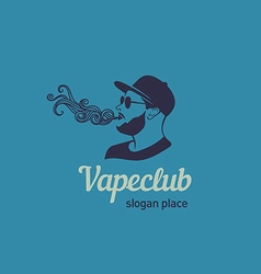Creative logos for the club shop or electronic cig vector image vector image