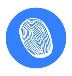 Fingerprint icon in black style isolated on white vector image vector image